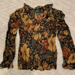 Beautiful Ralph Lauren Floral Blouse